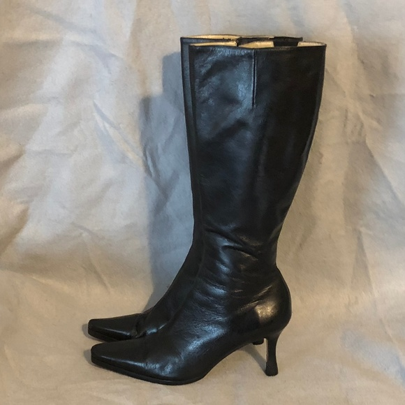 Size 6 Saks Fifth Avenue Heeled Leather Boots